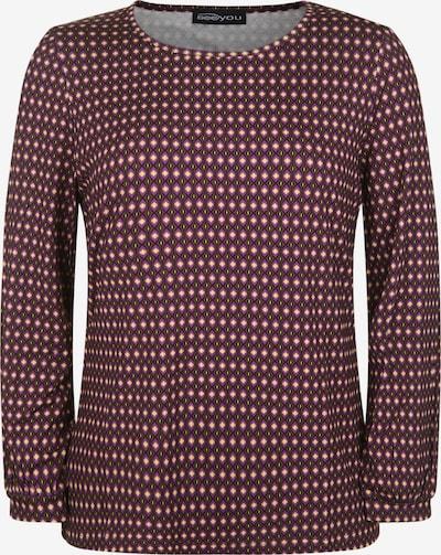 seeyou Langarmshirt mit Allover-Muster in rot, Produktansicht