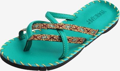 YOGISTAR.COM Sandalen 'Turquoise' in braun / jade, Produktansicht