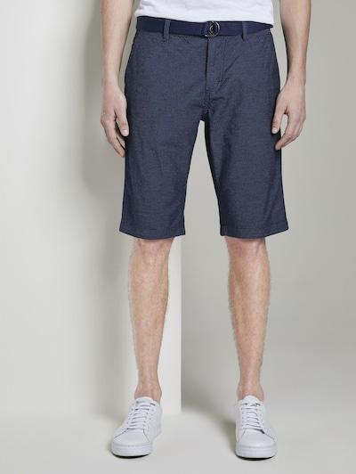 TOM TAILOR Chino kalhoty - modrá: Pohled zepředu