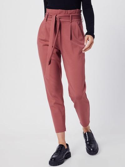 piros ONLY Élére vasalt nadrágok 'ONLPOPTRASH YO EASY', Modell nézet