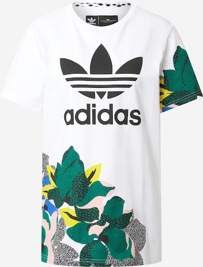 ADIDAS ORIGINALS T-Shirt  'Studio London' in smaragd / schwarz / weiß, Produktansicht