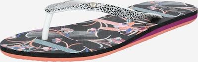 Flip-flops 'PORTOFINO' ROXY pe negru / alb, Vizualizare produs