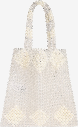 PIECES Shopper 'PCGILI PEARL BAG D2D' in weiß, Produktansicht