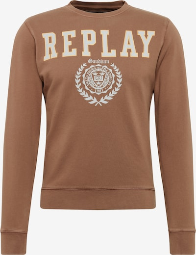REPLAY Sweatshirt in braun, Produktansicht
