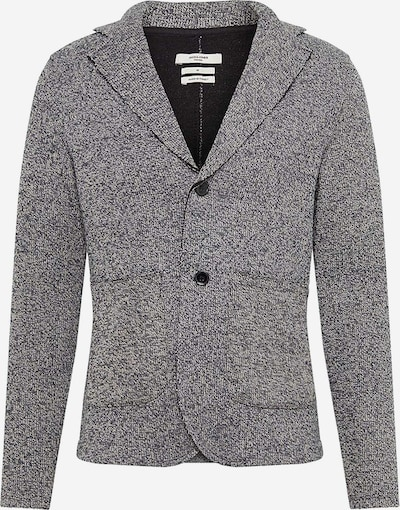 JACK & JONES Sweatblazer 'CARTER' in graumeliert / weiß, Produktansicht