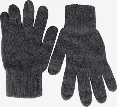 Zwillingsherz Kurzfingerhandschuhe in dunkelgrau, Produktansicht