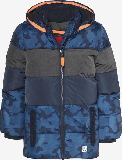 s.Oliver Junior Winterjacke mit Fleecefutter für Jungen in blau / dunkelblau / dunkelgrau, Produktansicht