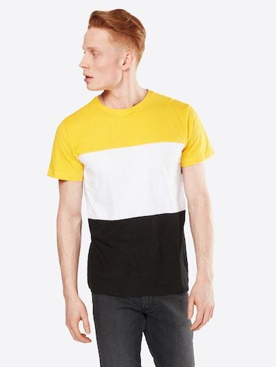 Urban Classics T-Shirt in gelb / schwarz / weiß: Frontalansicht