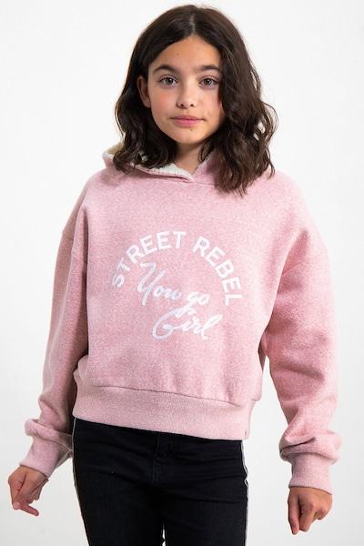 GARCIA Sweatshirt in pinkmeliert / weiß: Frontalansicht