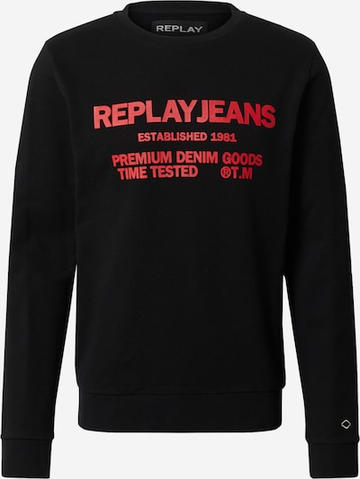 REPLAY Sweatshirt in rot / schwarz, Produktansicht