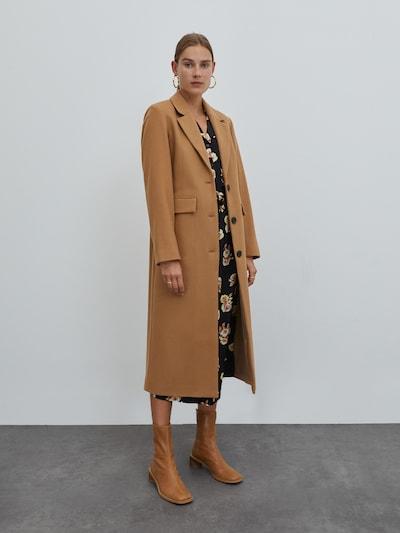 EDITED Manteau mi-saison 'Airin' en marron, Vue avec modèle