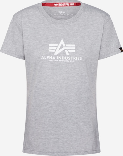 ALPHA INDUSTRIES Shirt 'New Basic T Wmn' in grau, Produktansicht