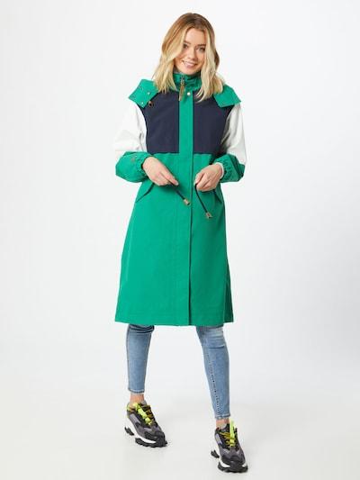 ICEPEAK Udendørsfrakke 'Algoma' i mørkeblå / grøn / hvid, Modelvisning