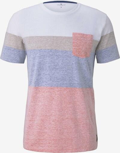TOM TAILOR T-Shirt in blau / grau / pink / weiß, Produktansicht