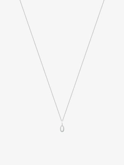 ID Fine Ketting '0' in de kleur Zilver, Productweergave