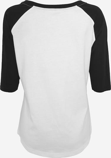 Mister Tee Curvy T-Shirt 'Banksy Balloons' in schwarz / weiß: Rückansicht