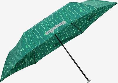ergobag Paraplu in de kleur Lichtgeel / Smaragd / Neongroen, Productweergave