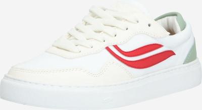 GENESIS Sneaker 'G-Soley Mesh' in oliv / rot / weiß: Frontalansicht
