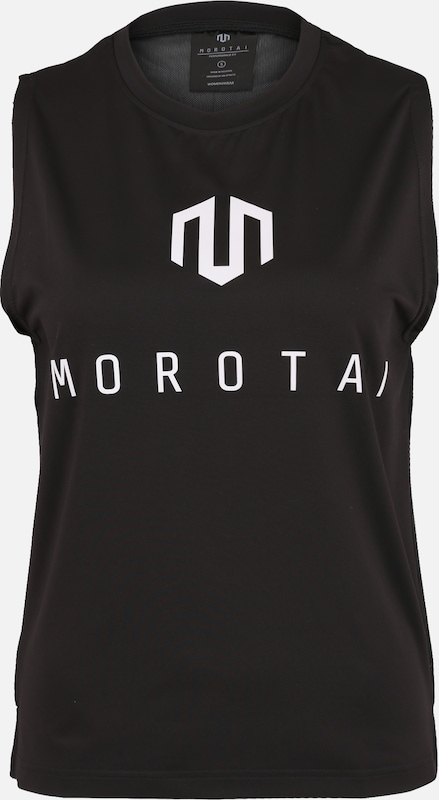 MOROTAI Sport-Top 'Performance Mesh Back' in schwarz / weiß, Produktansicht