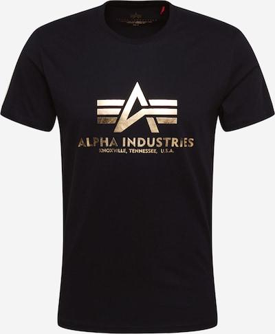 ALPHA INDUSTRIES Tričko - zlatá žltá / čierna, Produkt
