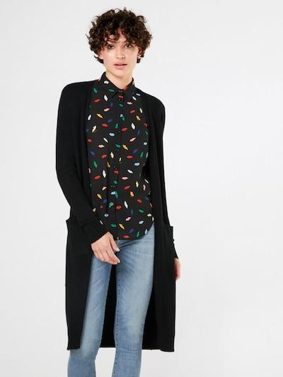 VILA Strickcardigan 'Ril' in schwarz, Modelansicht