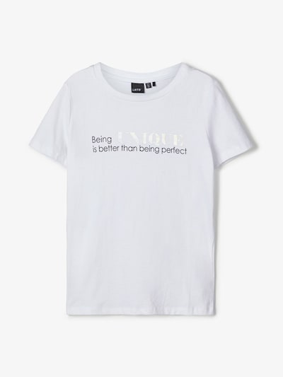 NAME IT Bedrucktes T-Shirt in weiß: Frontalansicht