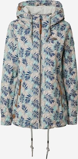 Ragwear Jacke 'ZUZKA LEAVES' in beige / hellblau / dunkelblau, Produktansicht