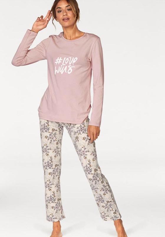 Skiny Pyjama 'Fading Sun' mit geblümter Hose