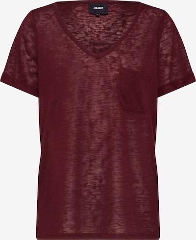 OBJECT T-Shirt 'OBJTESSI' in burgunder, Produktansicht