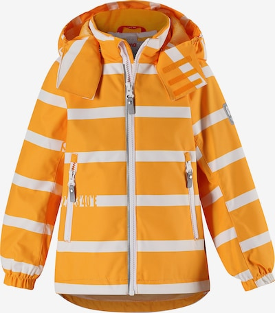 Reima Regenjacke 'Traffic' in orange / weiß, Produktansicht