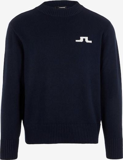 J.Lindeberg Pull-over 'Beckert' en bleu marine / blanc, Vue avec produit
