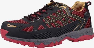 Kastinger Chaussure basse en jaune / rouge / noir, Vue avec produit