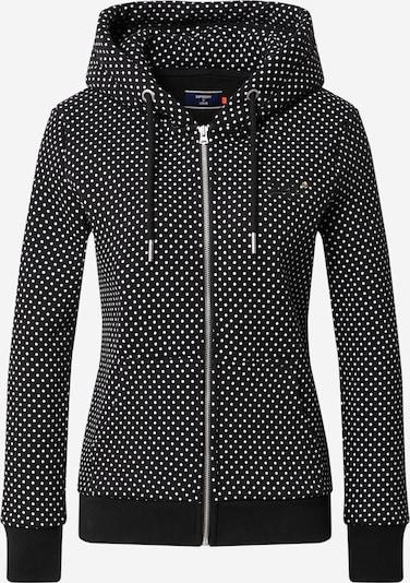 Superdry Sweatvest in de kleur Zwart / Wit, Productweergave