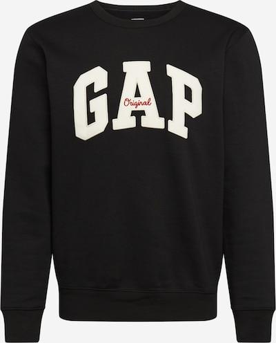 GAP Sweat-shirt en noir / blanc, Vue avec produit