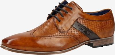 bugatti Čevlji na vezalke | kobalt modra / konjak barva, Prikaz izdelka