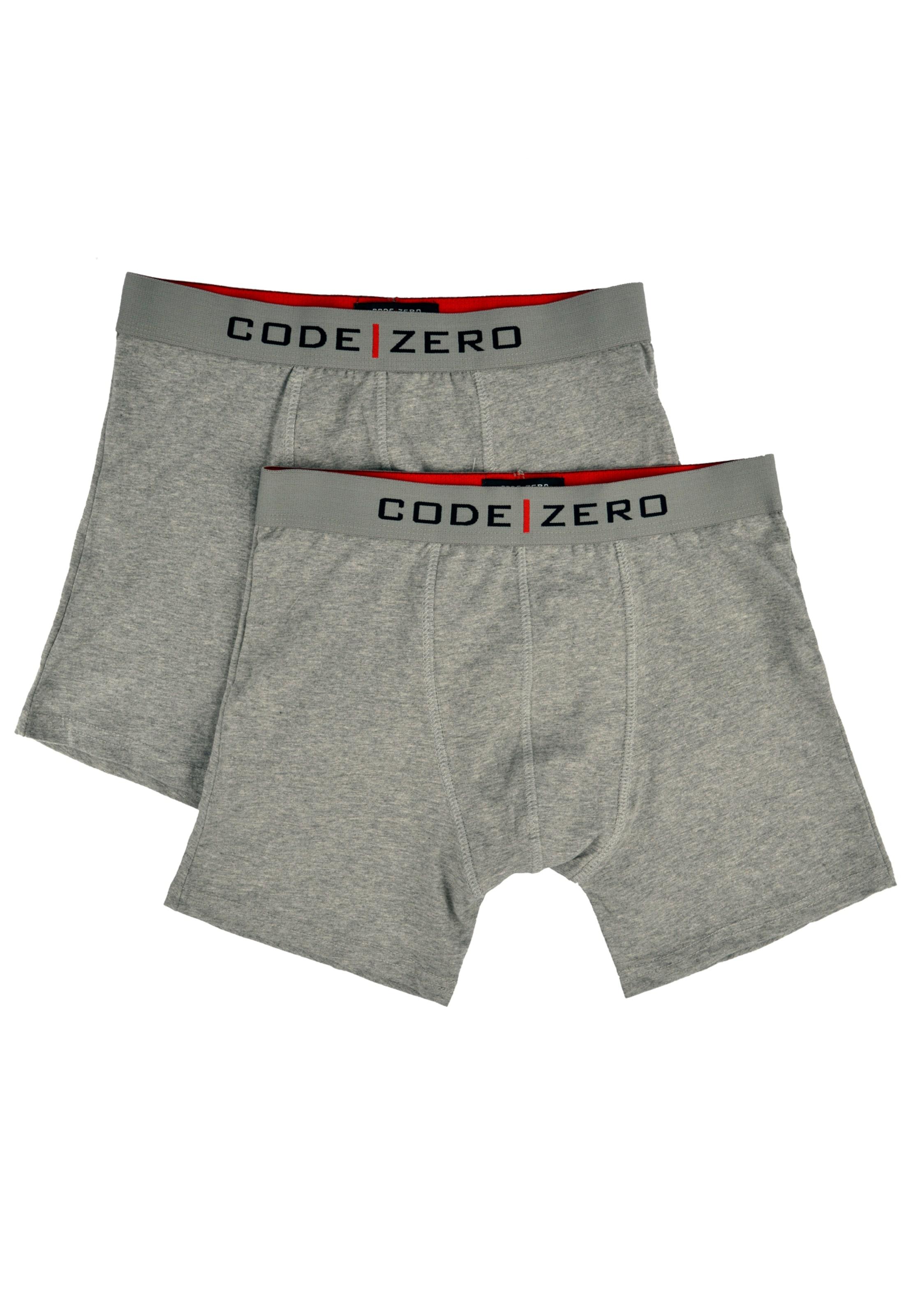 Doppelpack zero Boxershorts Code In Grau Im xroeBdC
