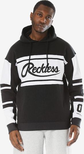 Young & Reckless Kapuzenpullover 'Brody' in schwarz / weiß, Produktansicht