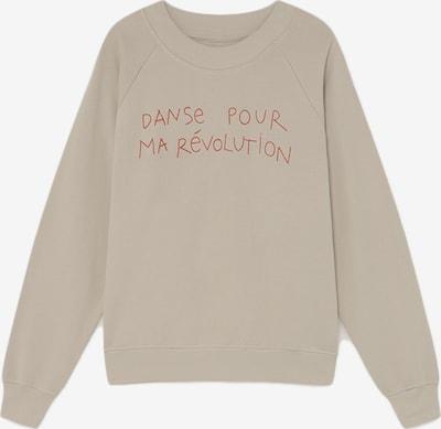 Thinking MU Sweatshirt 'Danse Raglan' in beige, Produktansicht