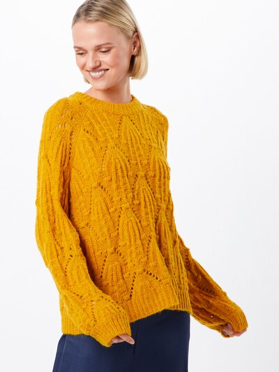 Megztinis 'Mavis' iš MOSS COPENHAGEN , spalva - geltona: Vaizdas iš priekio