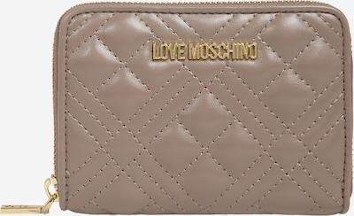 Portofel Love Moschino pe gri-bej, Vizualizare produs
