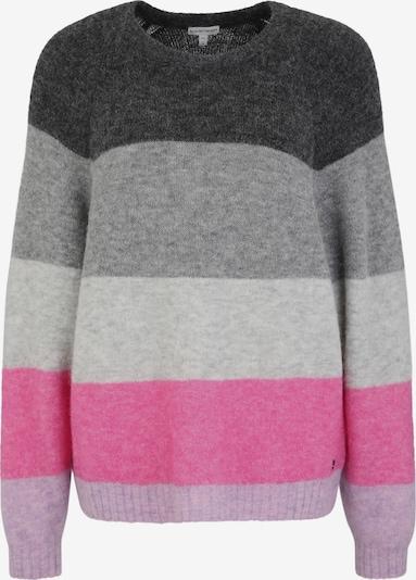 BETTER RICH Pullover 'Crew Multi Stripe' in grau / anthrazit / hellgrau / pink, Produktansicht