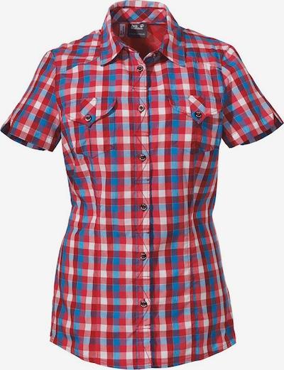 JACK WOLFSKIN Bluse in blau / rot / weiß, Produktansicht
