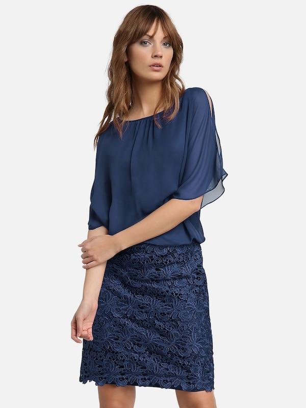 APART Kleid aus Chiffon und Spitze in blau | ABOUT YOU