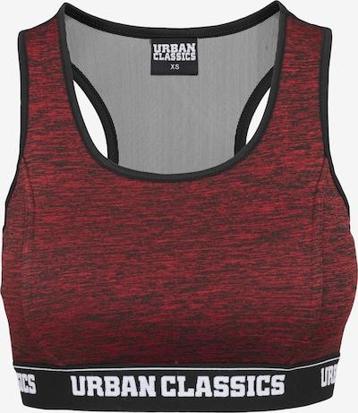 Urban Classics BH 'Active' in de kleur Donkerrood / Zwart, Productweergave