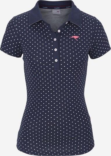 KangaROOS Poloshirt in marine / weiß, Produktansicht