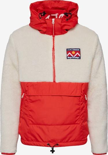 Kings Of Indigo Winterjacke 'KAZAN' in rot / weiß, Produktansicht