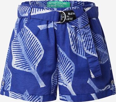 UNITED COLORS OF BENETTON Pantalon en bleu / blanc, Vue avec produit