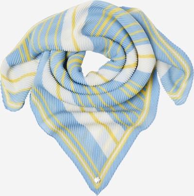 ESPRIT Rätik 'Plisseesqua' helesinine / kollane / valge, Tootevaade