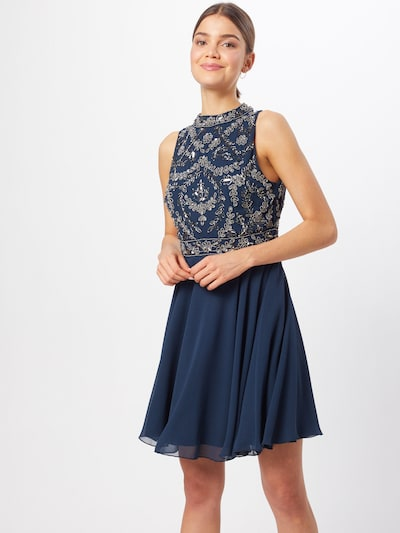 LACE & BEADS Kleid 'Agnes' in navy / silber, Modelansicht