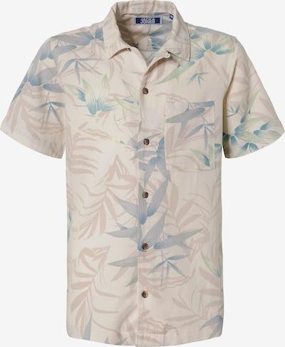 Jack & Jones Junior Kurzarmhemd in beige / blau / rosa / naturweiß, Produktansicht